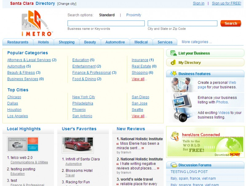 iMetro – Website