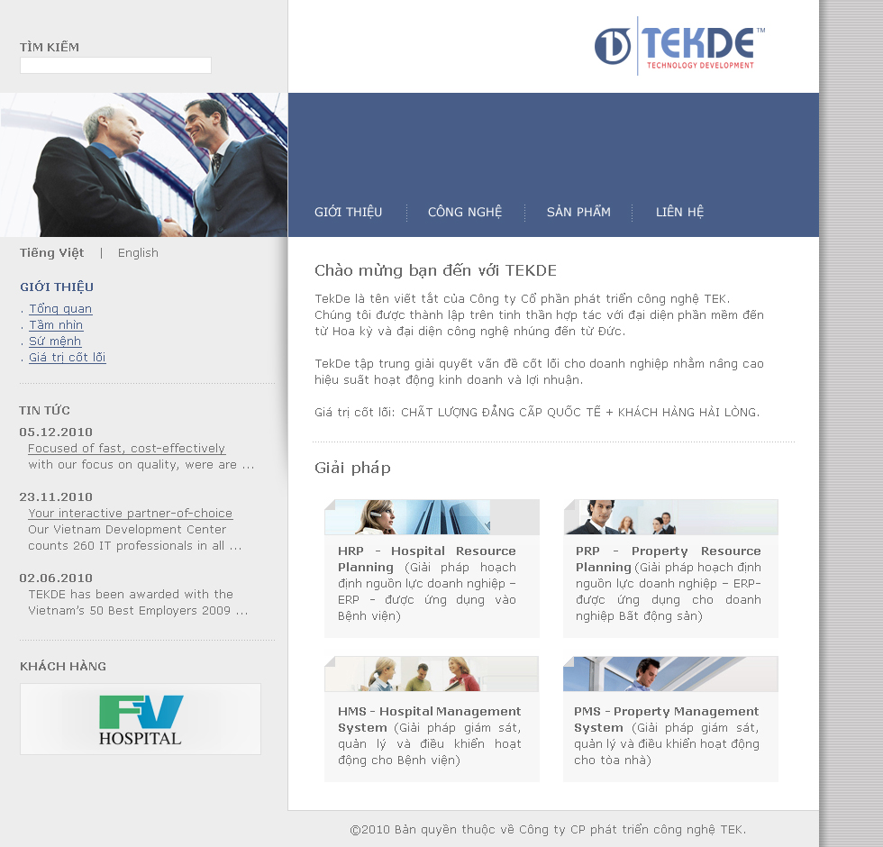 Tekde – Website