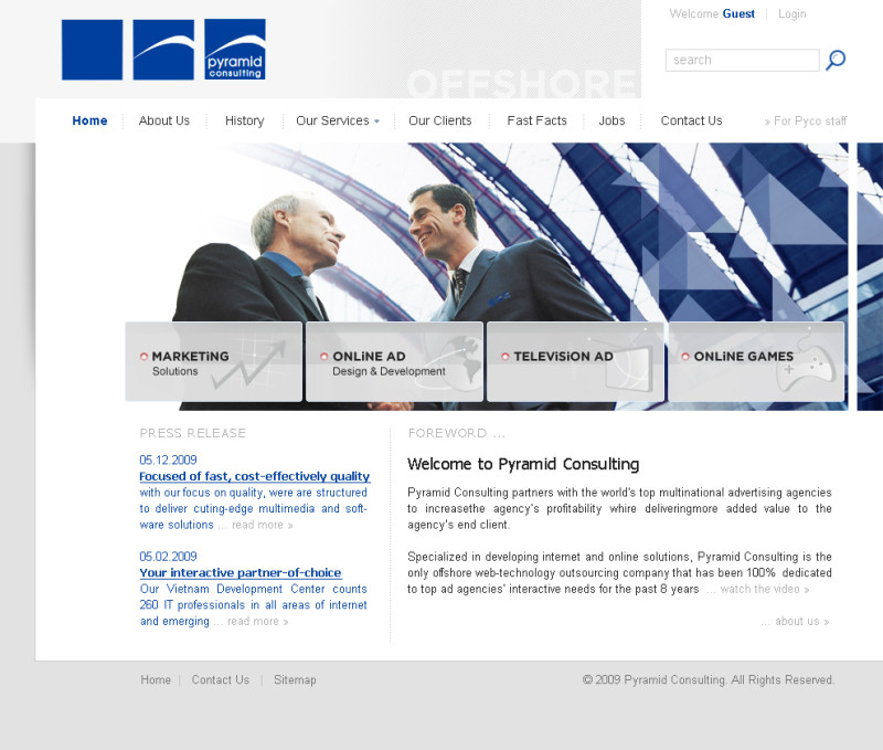 Pyramid Consulting Website Proposal